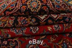PERFECT VINTAGE Traditional Floral Oriental Area RUG Hand-Knotted RED WOOL 10x13