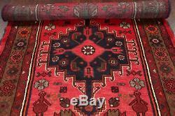 PINK Geometric TRIBAL Hamedan VINTAGE Persian Oriental hand made Wool Rug 3x6