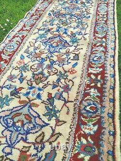 PRETTY LONG vintage WOOL PERSIAN ORIENTAL Runner RUG CARPET 410 x 75cm 1950's