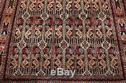 Persian Afghan Geometric Handmade 100% Wool Rug Gold Rare Vintage 6'27x 4'85