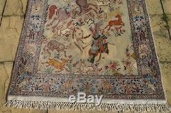 Persian Isfahann Esfahann silk and wool handmade hand knotted rug 175 x 105 cm