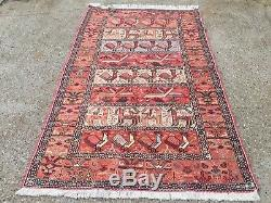 Persian Soumak Kilim Rug shabby vintage old wool country home Kelim 194x120cm