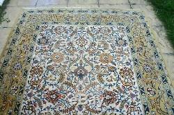 Persian Tabrizz silk wool handmade hand knotted rug animals bird 240 x 170 cm
