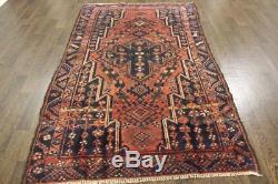 Persian Traditional Vintage Wool 2.8 X 6 Oriental Rug Handmade Carpet Rugs