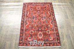 Persian Traditional Vintage Wool 2.9 X 4.3 Handmade Rugs Oriental Rug Carpet