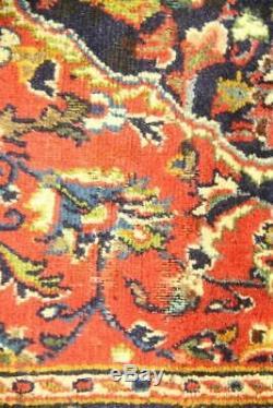Persian Traditional Vintage Wool 3.3 X 4.9 Oriental Rug Handmade Carpet Rugs