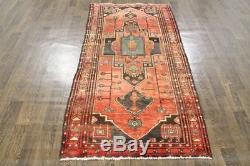 Persian Traditional Vintage Wool 3.3 X 6.4 Oriental Rug Handmade Carpet Rugs