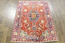 Persian Traditional Vintage Wool 3.6 X 4.7 Handmade Rugs Oriental Rug Carpet