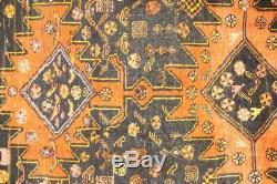 Persian Traditional Vintage Wool 3.6 X 6.1 Handmade Rugs Oriental Rug Carpet