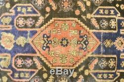 Persian Traditional Vintage Wool 3.8 X 6.9 Handmade Rugs Oriental Rug Carpet