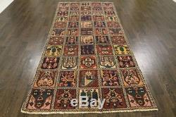 Persian Traditional Vintage Wool 3.9 X 8.7 Oriental Rug Handmade Carpet Rugs