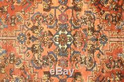 Persian Traditional Vintage Wool 4.1 X 6.7 Oriental Rug Handmade Carpet Rugs
