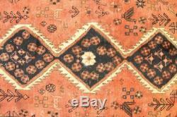 Persian Traditional Vintage Wool 4.6 X 6 Oriental Rug Handmade Carpet Rugs