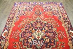 Persian Traditional Vintage Wool 6.9 X 10 Oriental Rug Handmade Carpet Rugs