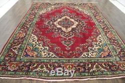 Persian Traditional Vintage Wool 8.1 X 10.9 Handmade Rugs Oriental Rug Carpet
