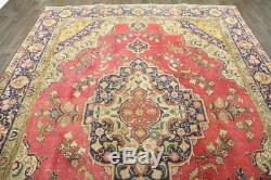 Persian Traditional Vintage Wool 8.7 X 12.5 Handmade Rugs Oriental Rug Carpet