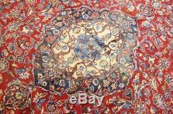 Persian Traditional Vintage Wool 9.4 X 12.3 Oriental Rug Handmade Carpet Rugs