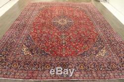 Persian Traditional Vintage Wool 9.4 X 12.7 Oriental Rug Handmade Carpet Rugs