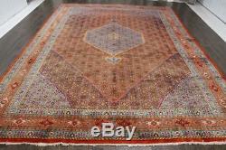Persian Traditional Vintage Wool 9.4 X 13 Oriental Rug Handmade Carpet Rugs