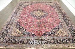 Persian Traditional Vintage Wool 9.6 X 12.5 Oriental Rug Handmade Carpet Rugs