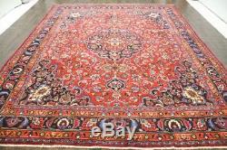 Persian Traditional Vintage Wool 9.8 X 12.5 Handmade Rugs Oriental Rug Carpet