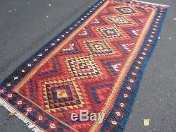 Persian, Turkish, Afghan, Vintage Kilim Rug, Wool, Bohemian Hand-Made 128260cm