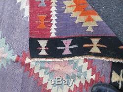 Persian, Turkish, Afghan, Vintage Kilim Rug, Wool, Bohemian Hand-Made 143235cm