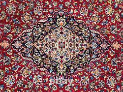 RED HANDMADE VINTAGE WOOL RUG 10x13 HAND-KNOTTED ORIENTAL ANTIQUE big carpet