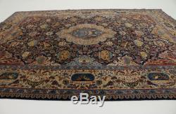 Rare Historical Design Vintage Signed Kashmar Persian Rug Oriental Carpet 10X13