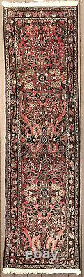 Rug #6 Antique Persian Hamadan Hand Knotted 9 Foot Runner, 30 x 108 Vintage