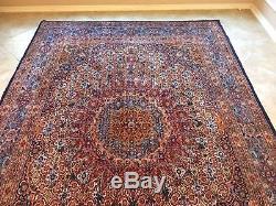 Rug Persian Carpet Superb Vintage Antique 10'X6.75' Multicolor Handmade Iran