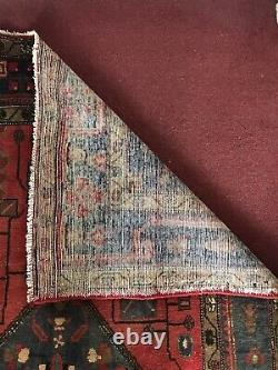 SPECTACULAR VINTAGE PRSN BALUCHI HAND-KNOTTED ORIENTAL RED GROUND RUG 307 X144cm