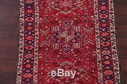Special Price! Vintage Geometric Tribal Runner Heriz Persian Oriental Rug 3x11