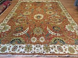 Special Sultanabad Vintage Mahal Design Oriental Indian Rug 8.8 x 12.4 ft