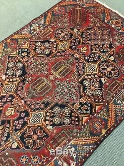 Spectacular Rare Tribal vintage Authentic Persian Area Rug 4x 7 fine Wool A+