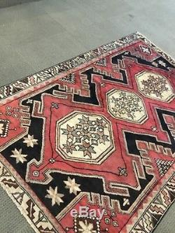 Spectacular Rare Tribal vintage Authentic Persian Area Rug 5 x 7 Wool knotted A+