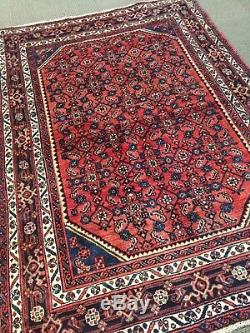 Spectacular Rare Tribal vintage Persiann hamedan Orienta Area Rug 4'. 5 X 6'. 5