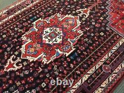 Spectacular Tribal Vintage Authentic Persian Hamedan area Rug 4 x 7 Rare