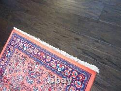 Stunning C 1950 Vintage Antique Exquisite Rug Hand Knotted 2' 8 x 6' 5