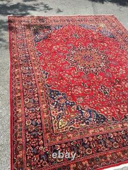 Stunning Vintage Antique Hand-knotted Rug 12' 4x 9' 7
