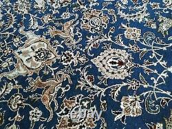 Super Fine Antique Pershian Tudeshk Nain Rug 700 Kpsi Tree Of Life 50% Silk