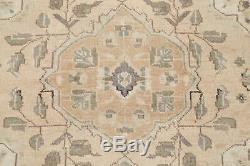 TOP DEAL Vintage Muted Beige Brown Persian Oriental Wool Distressed Rug 3' x 4