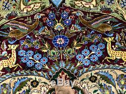 TREE OF LIFE RUG 10x13 ANTIQUE HAND KNOTTED wool handmade vintage oriental 9x12