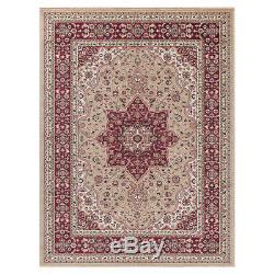 Traditional BEIGE Rugs Vintage Persian Style Living Room Floor Area Rug Carpet
