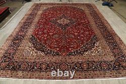 Traditional Floral Vintage Oriental 10x13 VINTAGE Wool Hand-Knotted Area Rug RED