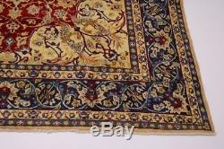Traditional Gold-Washed Vintage Najafabad Persian Rug Oriental Area Carpet 9X13