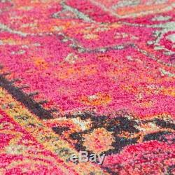 Traditional Persian Oriental Design Vintage Look Pink Colour Rugs Now 20% OFF