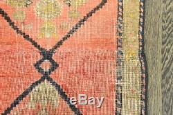 Traditional Vintage Persian Wool 2.2 X 9.7 Oriental Rug Handmade Carpet Rugs