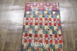 Traditional Vintage Persian Wool 2.4 X 5.1 Oriental Rug Handmade Carpet Rugs