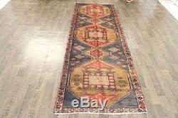 Traditional Vintage Persian Wool 3.2 X 9.4 Handmade Rugs Oriental Rug Carpet